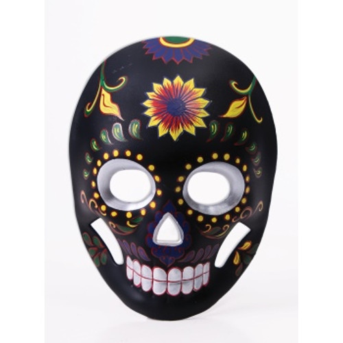 /day-of-the-dead-mask-black-with-satin-ties/