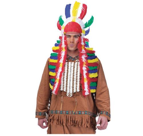 Native American Indian War Bonnet Multicolor