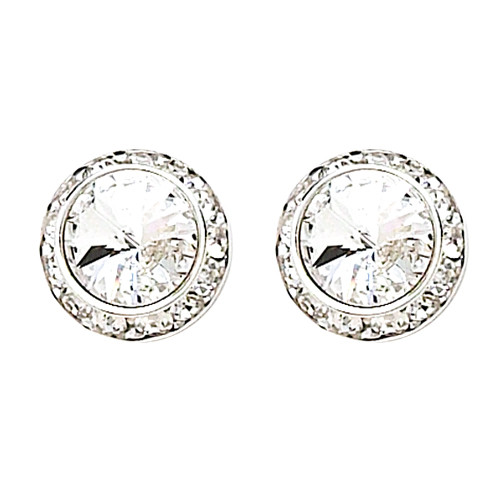13MM With Swarovski Crystal Clip-on Earrings (2712CCR)