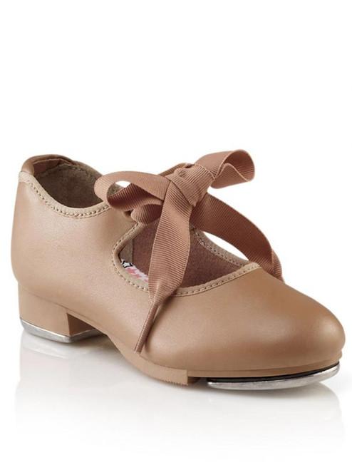 Capezio Jr. Tyette Caramel Tie Tap Shoe