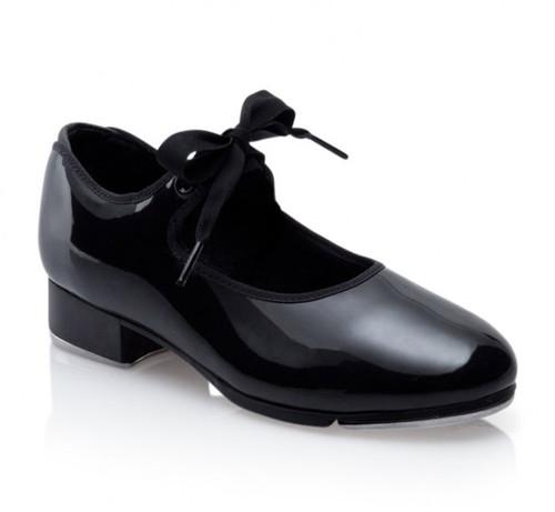 Capezio Jr. Tyette Black Patent Tie Tap Shoe