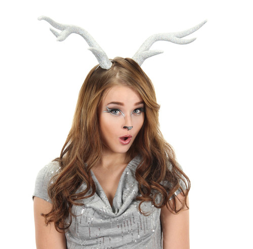 /silver-glitter-deer-antlers-w-adjustable-band/