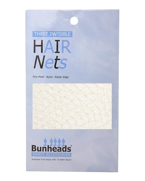3 Pack Professional Dance Hair Nets - Light Brown