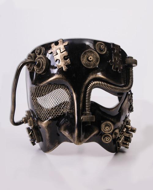 Steampunk Male Mask Frontal Mardi Gras