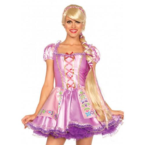 Rapunzel Wig Extra Long Blonde With w/ Braid