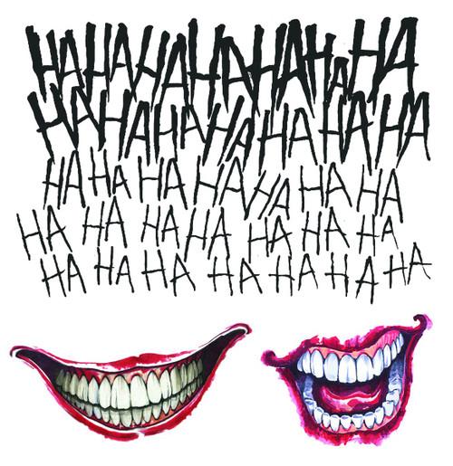 Suicide Squad Licensed Joker Tattoo Kit
