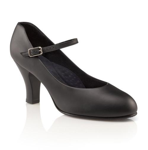 """Capezio Theatrical Footlight Black Character Shoe 3"""" Heel"""