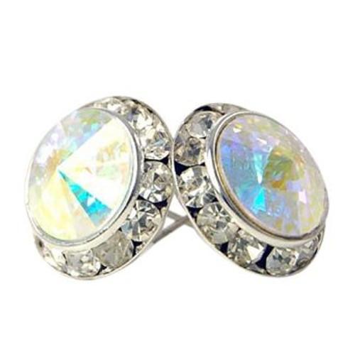 13MM With Aurora Swarovski Crystal Clip-on Earrings