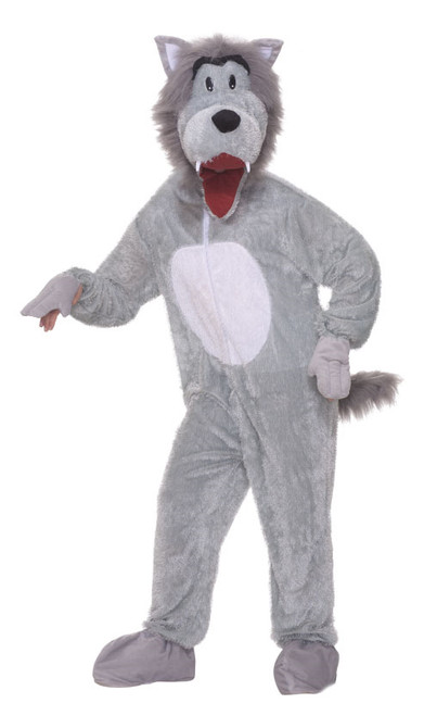 Storybook Wolf Mascot Plus Adult Costume