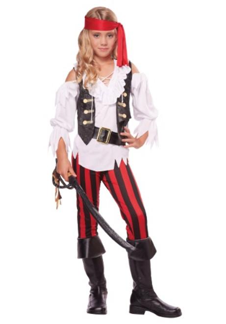 Posh Pirate Girls Bucanneer Costume
