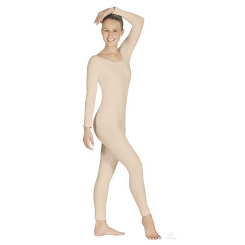 Eurotard Plus Size Adult Microfiber Long Sleeve Unitard - Nude