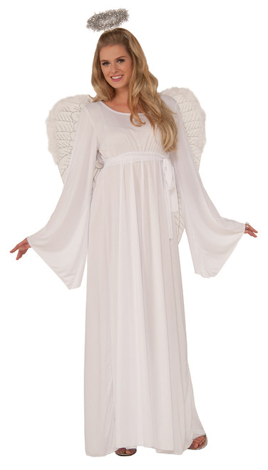 Angel Costume Adults Dress, Belt and Halo