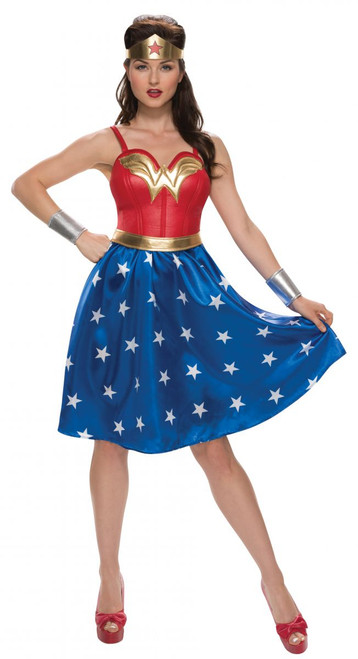 Wonder Woman Dress Knee Length Adult Costume