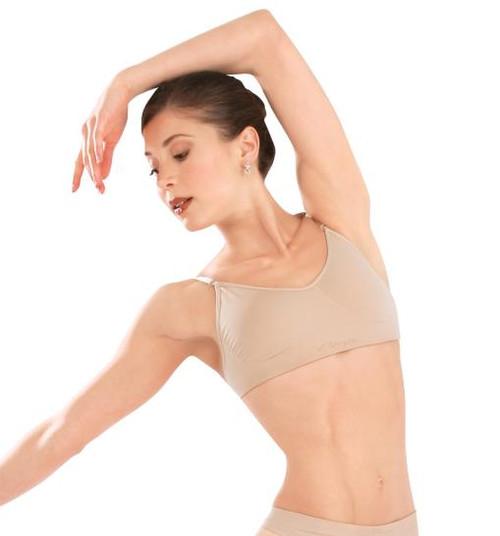 Capezio Seamless Clear Back Strap Dance Bra
