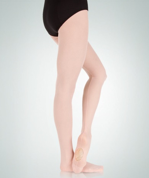 Body Wrappers Adult TotalSTRETCH Sheer Weight Mesh Backseam  Convertible Tights