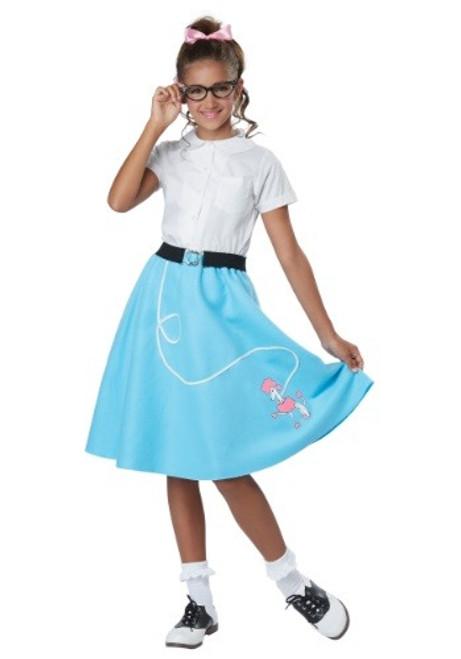 50's Poodle Skirt Blue Kid's