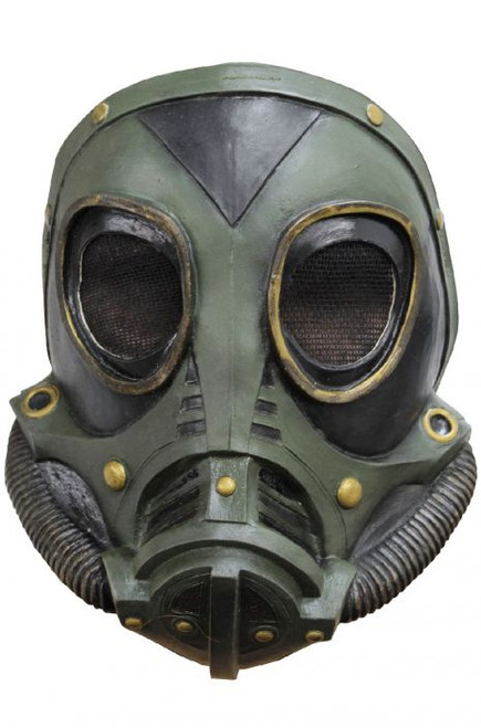 M3A1 Gas Mask Green and Black Mask with Black Strap