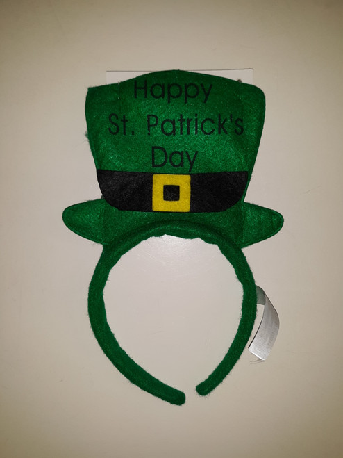 St. Patrick's Day Headband w/ Cutout of Hat w/ Buckle