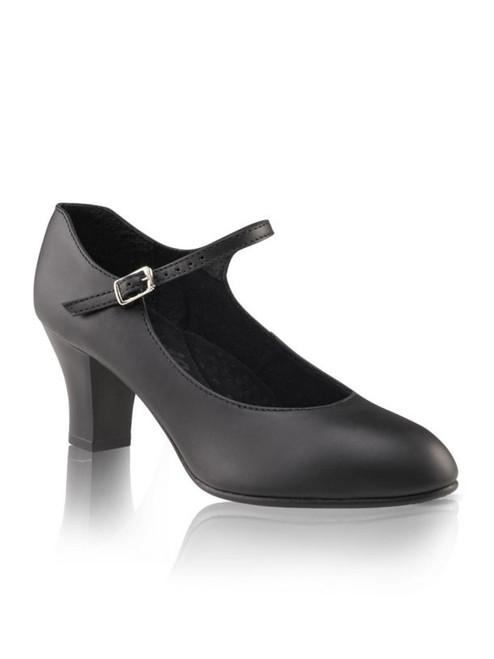 """Capezio Footlight Student Black Character Shoe 2"""" Heel (650BLK)"""