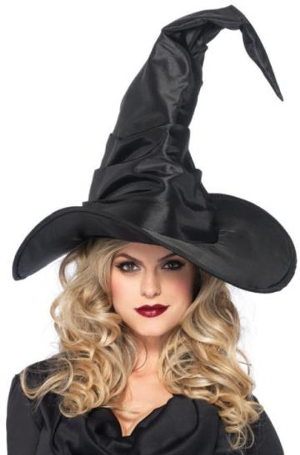 Leg Avenue Large Ruched Witch Hat Black