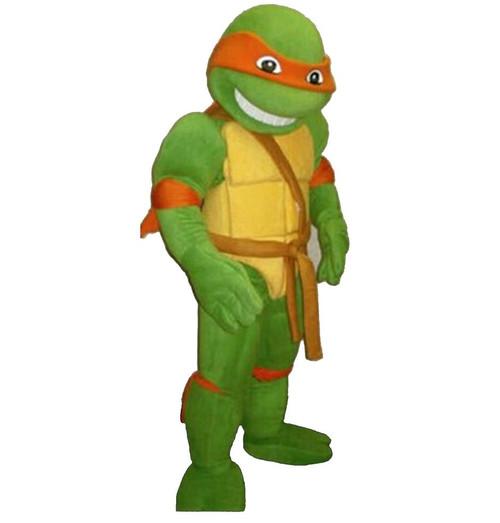 Rent: Orange Action Turtle Mascot