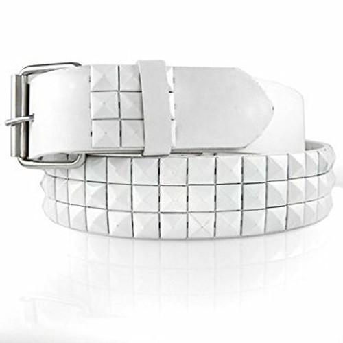 White Studded Belt