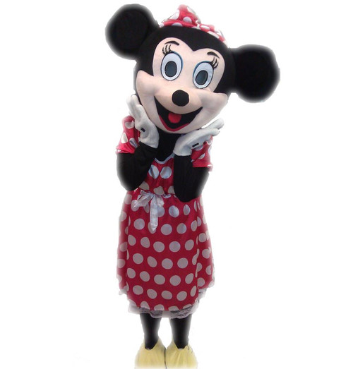 Rent: Red Miss Mouse Mascot