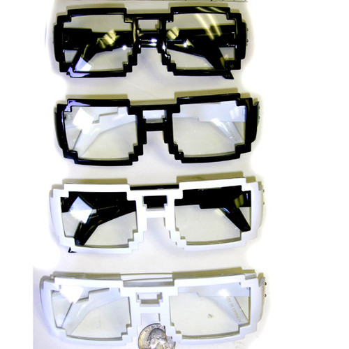 Solid color pixel style sunglasses