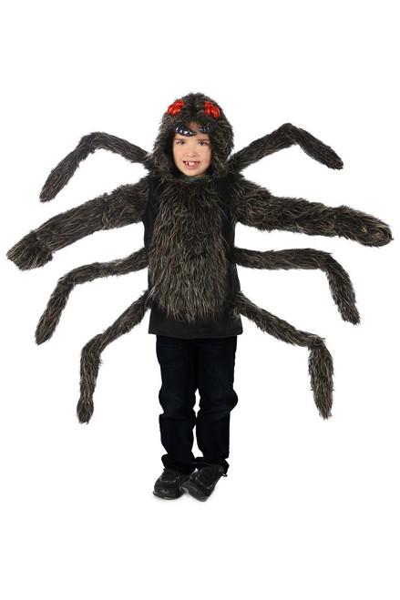 Spider Kid's Tarantula Hoodie Deluxe Furry Costume w/ Hood