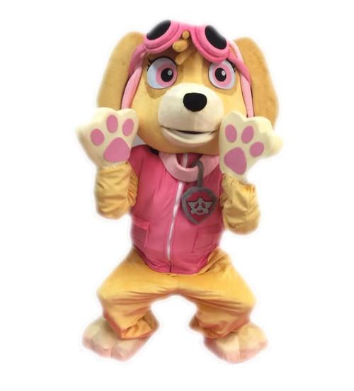 Rent: Pink Pilot Pup Mascot