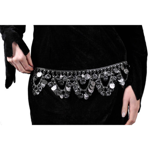 Coin Belt With Swags Silver Adjustable