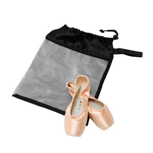 Black Mesh Shoe Bag
