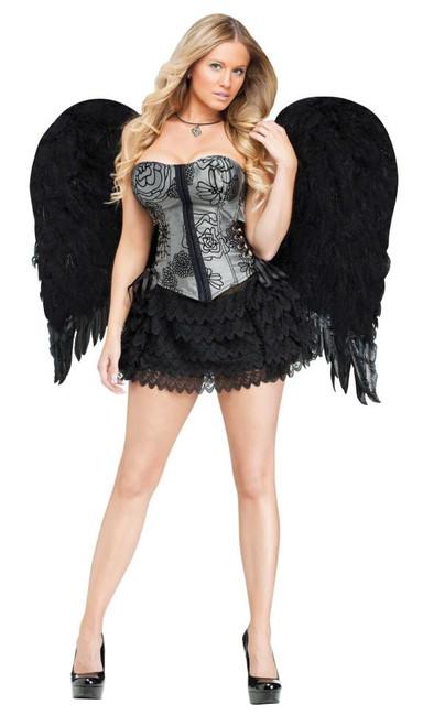 """36"""" Large Wings White Angel or Black Demon Wings"""
