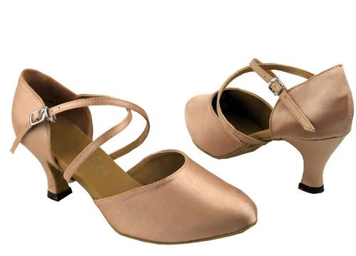 "Satin Closed Toe Low Heel Ballroom Shoe 1.3"" (9691)"