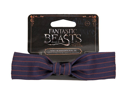 This dapper Newt Scamander Bow Tie accessory is pin striped, adjustable size, and ready for magical costume adventures!  Product Specifications:  Ages 14+ One size fits most. Spot clean 100% polyester with metal closure. Officially licensed merchandise