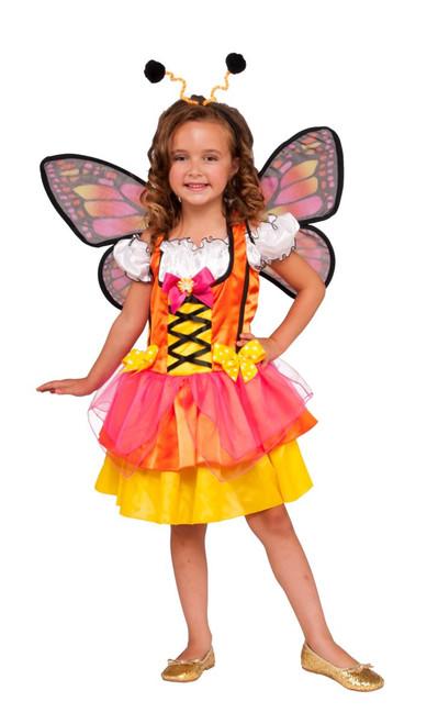 Glittery Orange Butterfly Kid's Costume