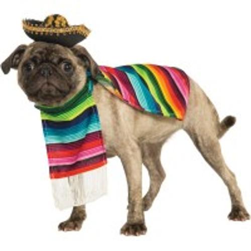Pet Mexican Serape Costume