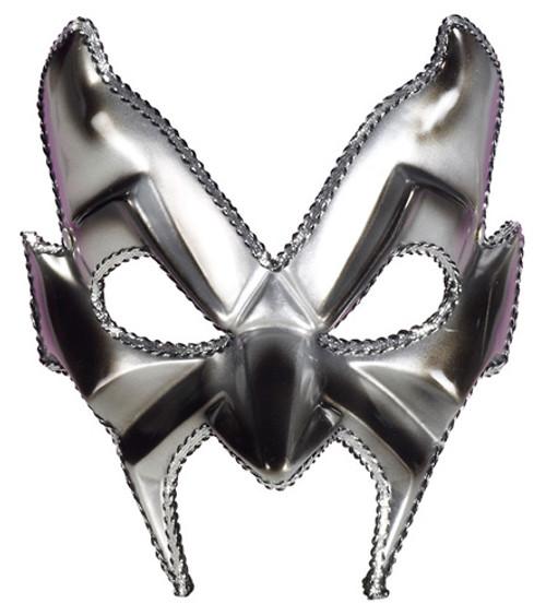 Devil Man Half Mask Silver