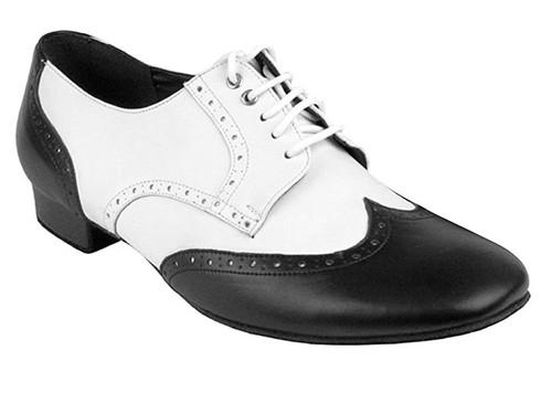 "Men Spectator Oxfords Ballroom Shoe Leather 1"" Heel"