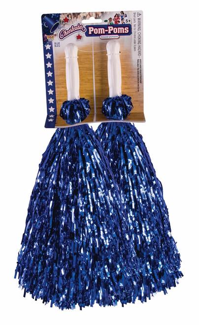 Pom-Pom Set Metallic Blue