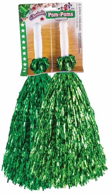 Pom-Pom Set Metallic Green
