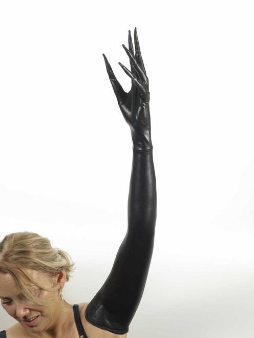 Long Fingered Gloves Black