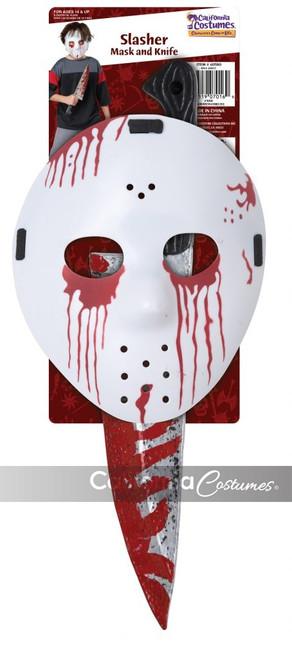 Slasher Hockey Mask & Knife Set