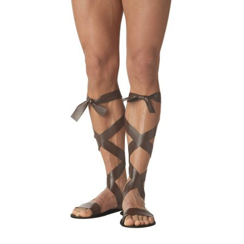 Roman Sandal Brown Lace-up Gladiator Style