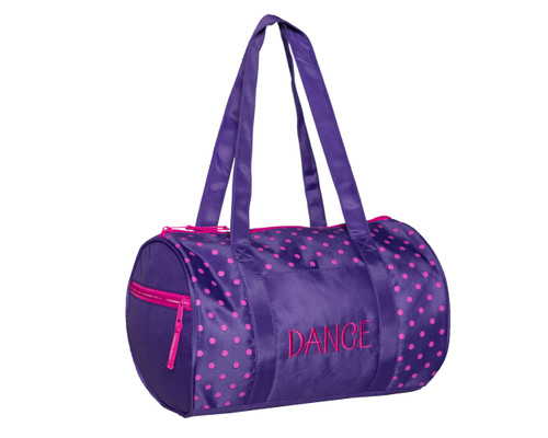 Dots Duffle Bag Purple