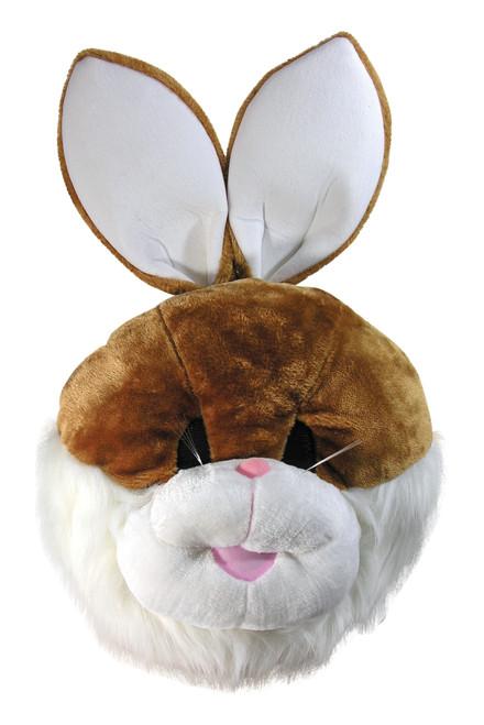 Mascot Brown Bunny Head Plush Soft Design