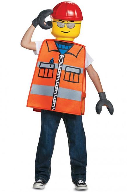 Lego Licensed Construction Worker Kids Costume