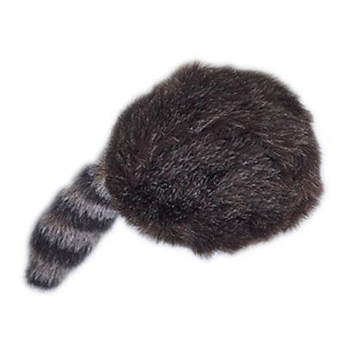 Coonskin Cap with Fake Tail Davy Crockett Hat