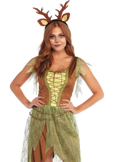 Woodland Fawn Womens Adult Costume Dress