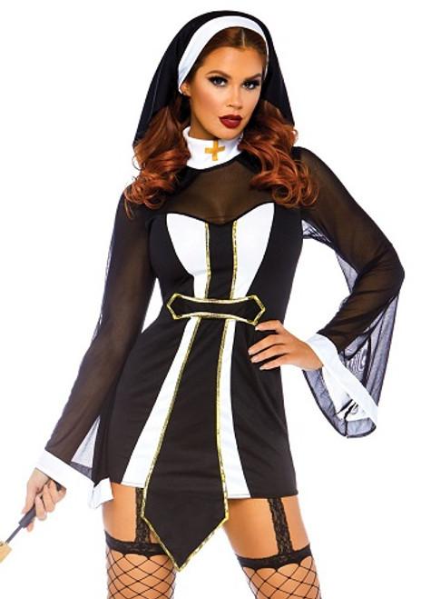 Leg Avenue Twisted Sister Ladies Nun Costume